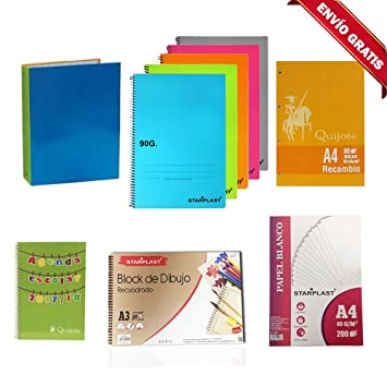 Starplast Pack Ahorro DE Material Escolar, 5 Cuadernos, 1 Agenda Escolar, 1 ARCHIVADOR