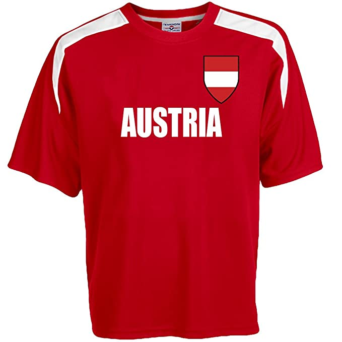 7ce1f0ae8e5 Customized Austria Soccer Jersey Adult Small in Scarlet Red and White