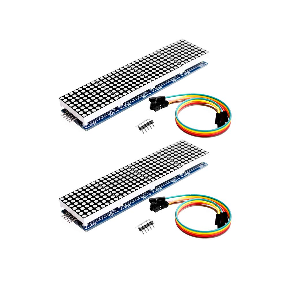 Onyehn 2pcs/Lots MAX7219 Dot Matrix Module 4 in 1 Display for Arduino Microcontroller with 5Pin Line by Onyehn