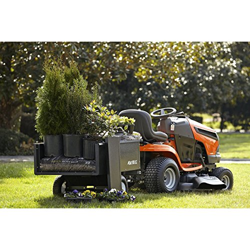 10cu ft Steel Dump Cart Garden Yard Wagon Lawn tractor Mower trailer Attachment by Nessagro (Image #4)
