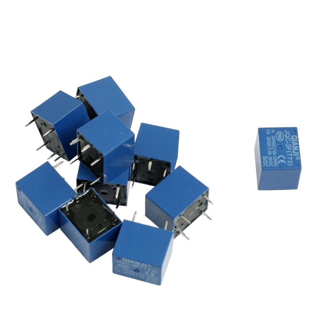 10 Pcs Dc 5v Coil 7a 240vac 10a 125vac 28vdc 5 Pins Spst Power Relay Fire Inc Restaurant System Parts Ansulstyle Dpdt Microswitch Jqc 3f Diy Tools