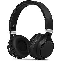 Kanen BT02 Foldable Stereo Wireless Bluetooth Headphones Headset Over Ear Headphones with Microphone Black