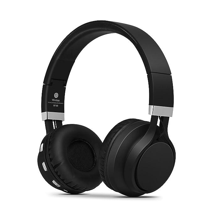 Kanen BT02 Plegable estéreo inalámbrico Bluetooth Auriculares Auriculares de Diadema con micrófono: Amazon.es: Electrónica