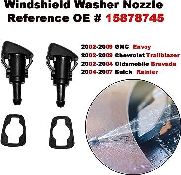 2pcs of Windshield Washer Nozzle Spray for Trailblazer Envoy Bravada Rainier 15878745