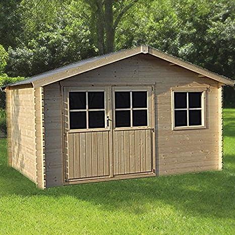 DECOR ET JARDIN Caseta flodeal (madera de abeto del Norte 10, 17 M² - 28 mm: Amazon.es: Jardín