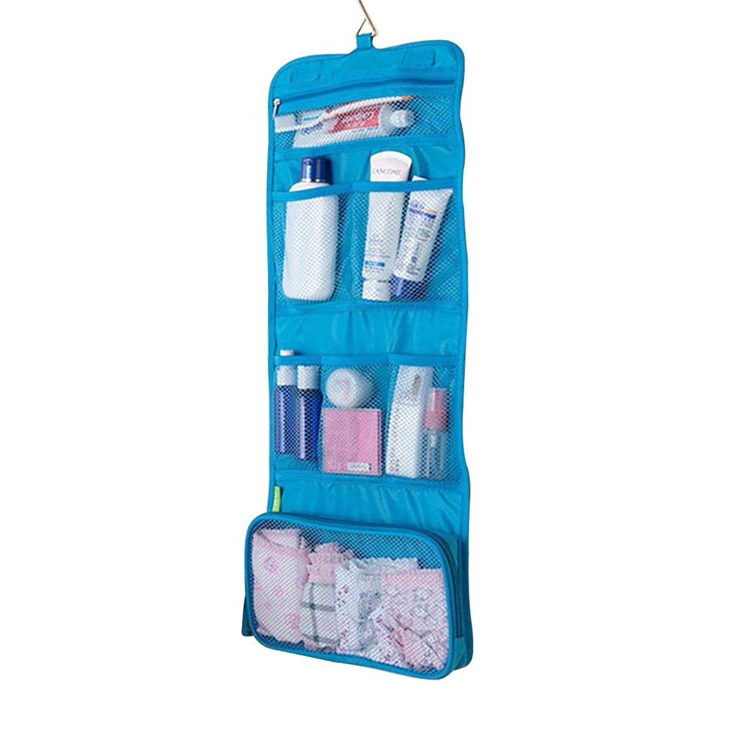 Portable Folding Travel Toiletry Hanging Wash Bag with Hook La s