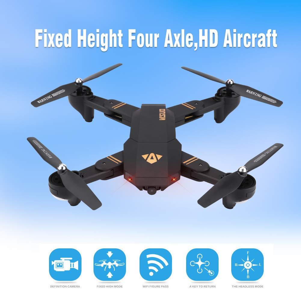 Dilwe RC Quadcopter, 2,4 GHz Faltbare 170 Weitwinkel Höhe Höhe Höhe Halten Headless Modus Fernbedienung Drohne(2MP) 051ae5