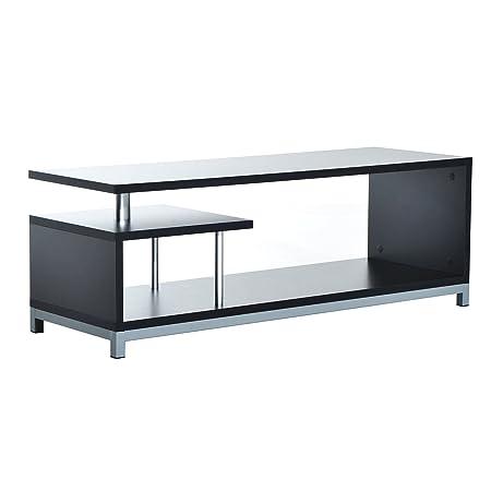 Homcom Tv Lowboard Unit Sideboard Console Table Modell1 Schwarz Grau