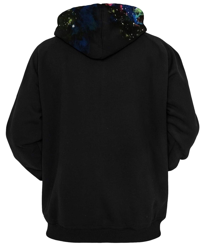 Ocean Plus Herren 3D Kapuzenpullover Hoodie Halloween Cosplay Sweatshirt Hooded Sweat Einzigartig Galaxie Pullover