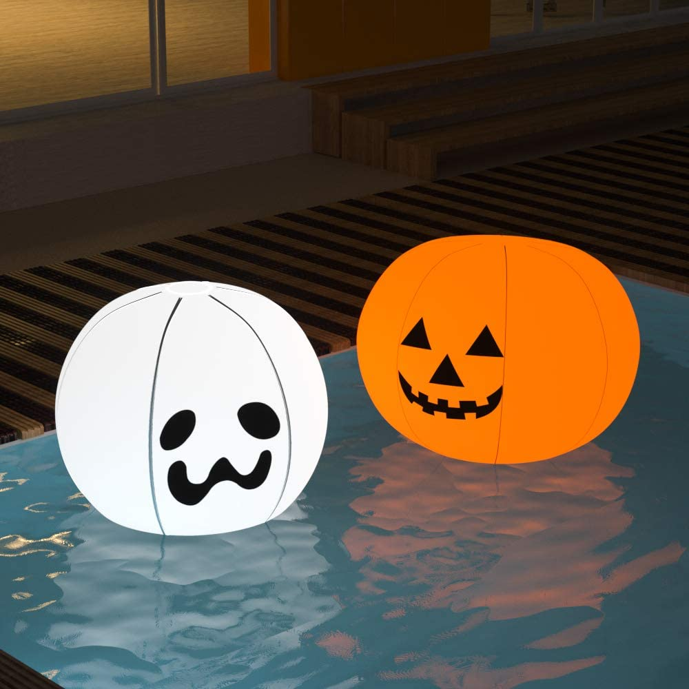 Floating Pool Lights - Pack of 2 Battery Powered Color Changing Balls - Float or Hang in Pool Garden Backyard Pond Party Decorations - Inflatable Wateproof RBG Lights Accessories