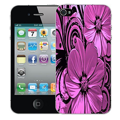 Mobile Case Mate iPhone 4s Silicone Coque couverture case cover Pare-chocs + STYLET - Prestine pattern (SILICON)