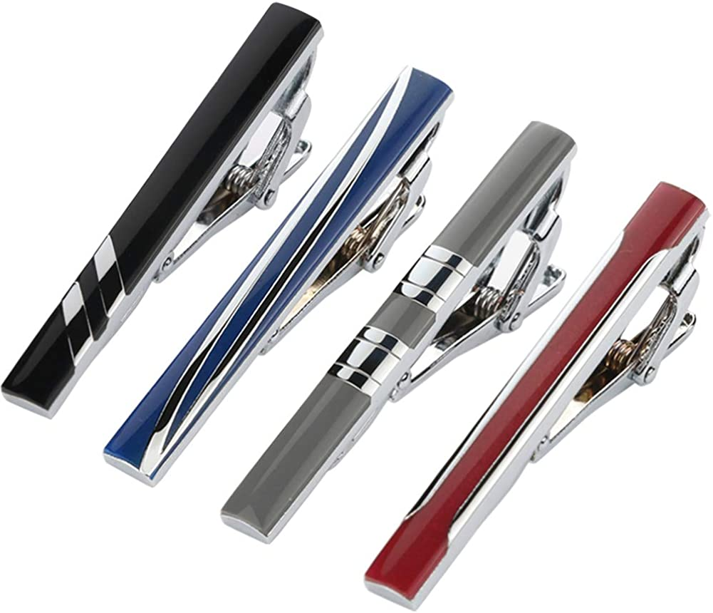 GWD Tie Clips for Men Wedding Business Classic Tie Bar Clip Set