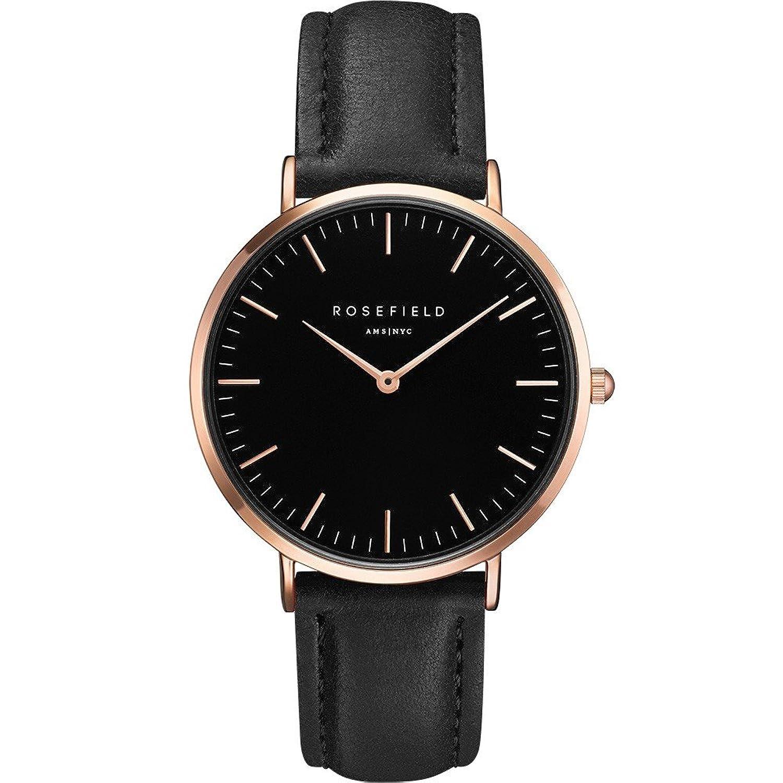 [ローズフィールド]ROSE FIELD 腕時計 ウォッチ クラシック シンプル レザーベルト 38mm レディース (ホワイトブラック) [並行輸入品] B06VW8HT27 ホワイトブラック