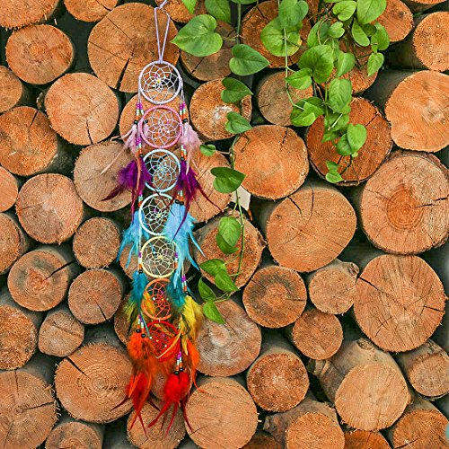 H&D Chakra Dream Catcher Chandelier Prisms Suncatcher Handmade Rainbow Fengshui Pendant (Style-5) by H&D (Image #5)