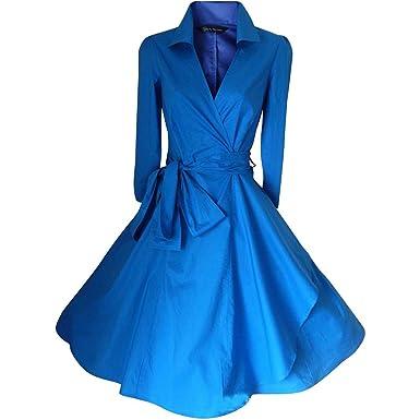 WintCO Damen Vintage Mantel Kleider formal Mantel mit Gürtel V ...