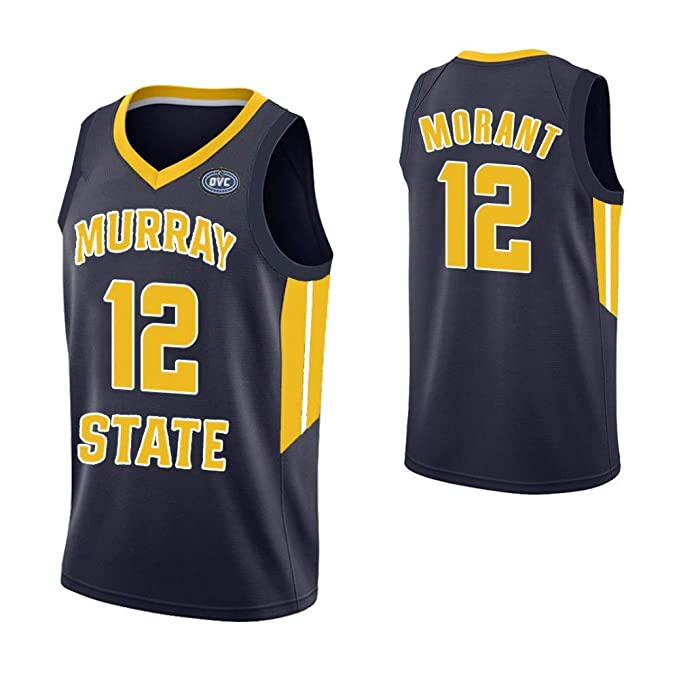 official photos 3bedf 1c499 Amazon.com: Men's Murray State Racers #12 Ja Morant College ...