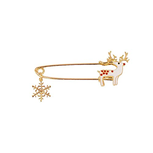 d8b4ad8839c11 Amazon.com: 1 Pcs Christmas Deer Anime Brooches Alloy Wedding Pin ...