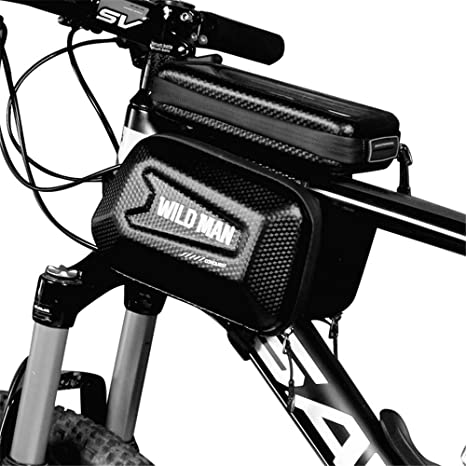 Bolsa Manillar Bici Impermeable Bolsa Tubo Bicicleta con Pantalla ...
