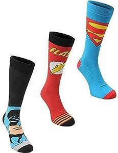 Marvel Calcetines para hombre, oficiales, paquete de 3 pares, DC Comics: Amazon.es: Deportes y aire libre