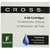 Cross 8920 - Pack de 6 cartuchos de tinta para pluma, color azul