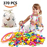 370 Pcs Pop Snap Beads Set,Creative DIY Jewelry Making Kit for Rings,Bracelets,Necklaces Educational Pop Beads Art Crafts Gifts Toys for Girls,Toddlers, Kids