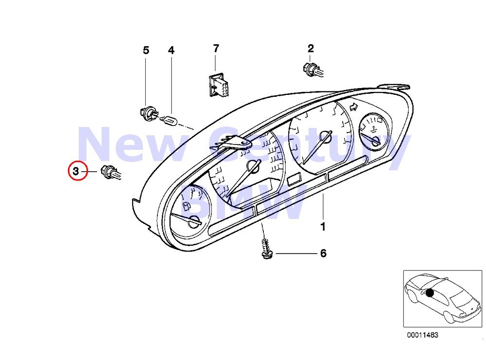 Amazon.com: 6 x BMW Bulb (12V - 1.5W) - Dashboard Instruments with Beige Socket Base 840Ci 840i 850Ci 850CSi 735i 735iL 740i 740iL 750iL 525i 530i 535i 540i ...