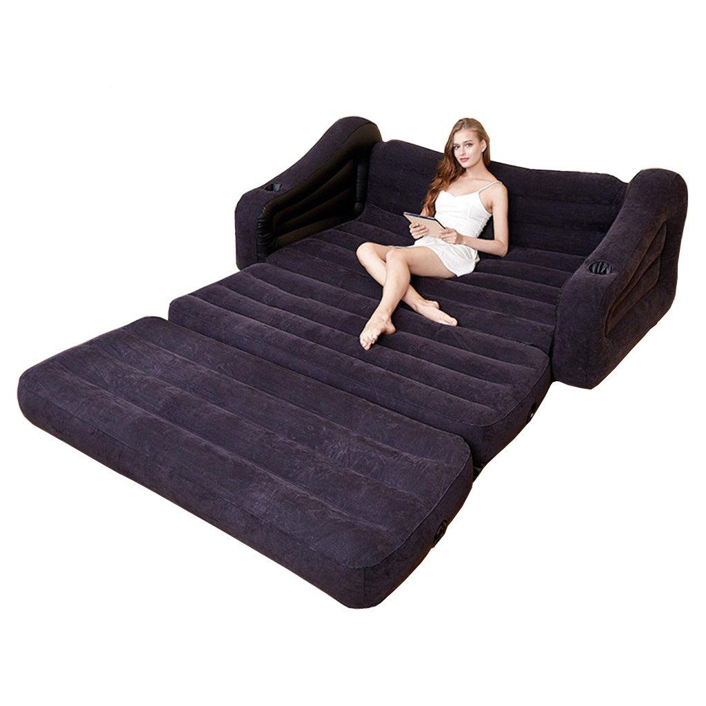 Bed-LSS ALXC- Bett, aufblasbares Sofa-Bett-faules Sofa-Luftpolster-zusammenklappbares Multifunktionsportable