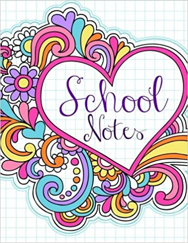 School Notes Simple Notebooks 97 Pages Doodle Cover Design
