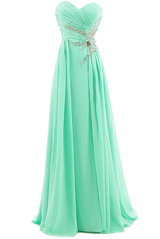 Dresstells Boden-Länge Chiffon Herzförmige Ballkleid Abendkleid für Junior