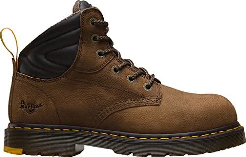 Dr. Martens Hynine St, Zapatos de Seguridad Unisex Adulto, Marrón (Brown 203), 36 EU