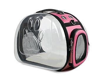 Bolsa transparente para mascotas jaula para gatos bolsa para mascotas bolsa para gatos bolsa para gatos portátil paquete plegable transparente transparente ...