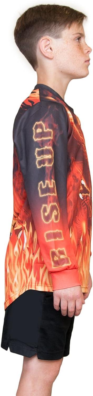 KO Sports Gear Motocross Off Road Motorcycle Jersey Red Phoenix Design
