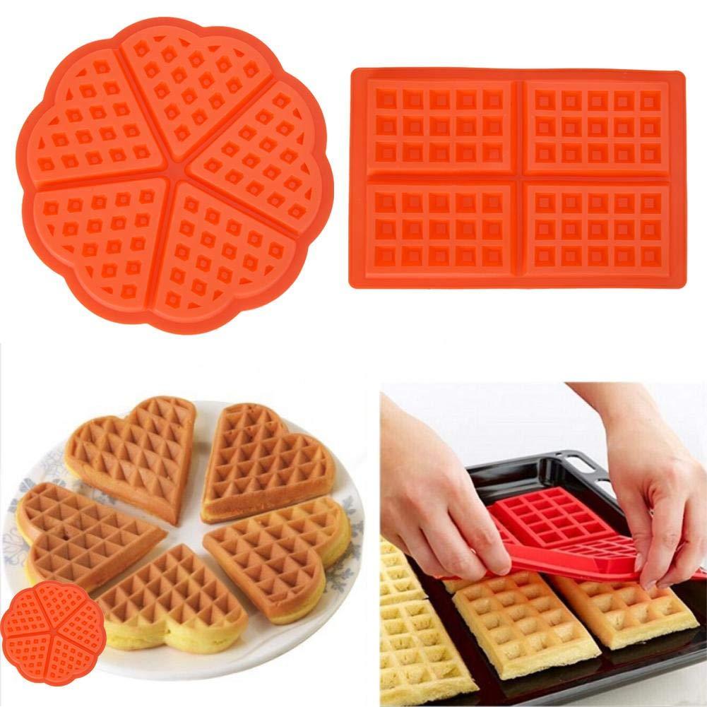 chocolat cuisine 4//5 cavit/és Rond bonbons muffins Moule /à gaufres en silicone pour g/âteau biscuits petit d/éjeuner