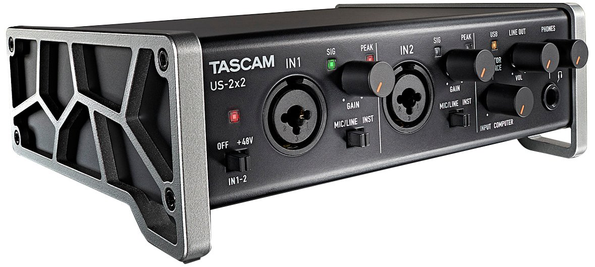 Tascam US-2x2 USB 2.0 2-In/2-Out Audio/MIDI interface with 1 Year Free Extended Warranty