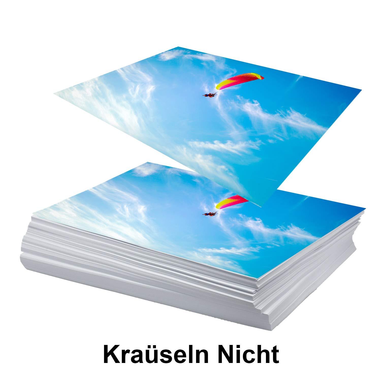 Koala-Fotopapier A4 50 Blatt schwer doppelseitig hochgl/änzend Kompatibel mit Tintenstrahldruckern 260 gsm