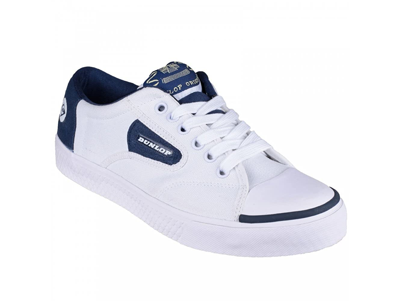 Dunlop Grün FLASH Unisex Retro Trainers Weiß Navy UK 11