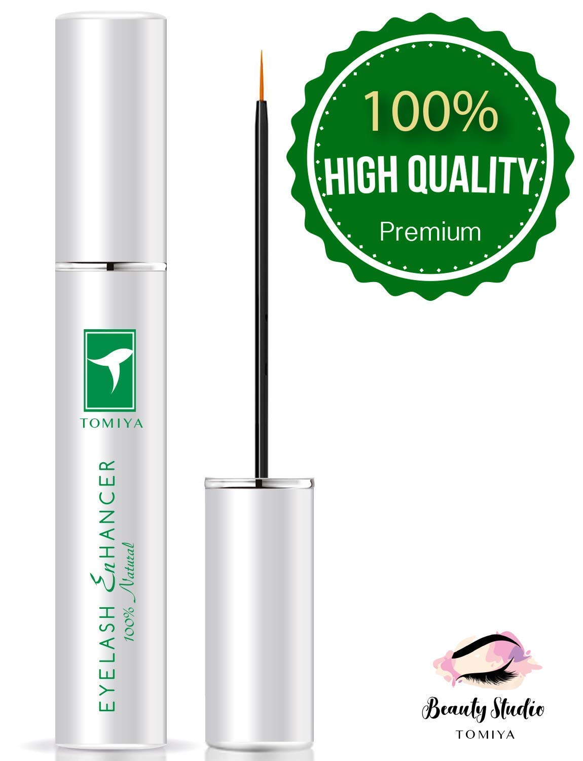 VOTALA Eyelash Growth Enhancer and Brow Serum for Long, Natural Extract Eyelash Growth Serum FEG Eyelash Enhancer for Longer, Thicker and Fuller Eyelash (EG) 3ML (6.2)