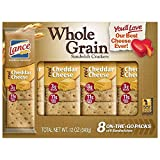 Lance Whole Grain Sandwich Crackers, Cheddar Cheese, 8 Count (Pack of 14)