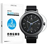 LG Watch Style Screen Protector [3 Pack] - OMOTON Tempered Glass Screen Protector for LG Watch Style Smart Watch 2017 with [Scratch Resistant][Crystal Clear][Bubble-Free]