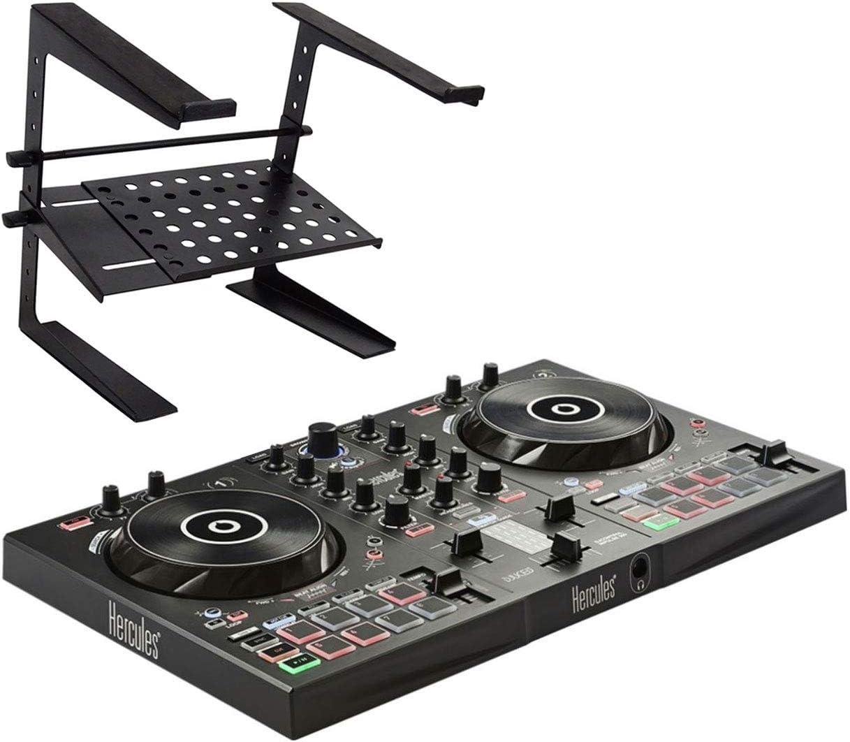Hercules DJControl Inpulse 300 - Mesa de mezclas para DJ (incluye soporte Keepdrum HA-LS20): Amazon.es: Instrumentos musicales