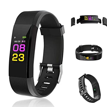 Amazon.com: Kindsells Smart Wristband with Heart Rate ...