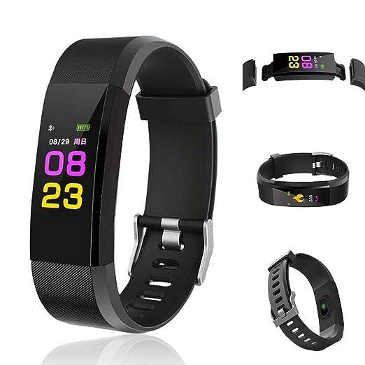 alenku Reloj Pulsera Inteligente Multifuncional Cuenta Pasos Calorías, Smartwatch Fitness Tracker Unisex: Amazon.es: Relojes