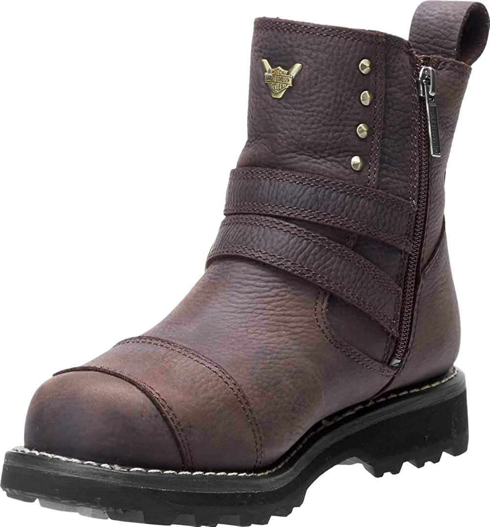 Harley-Davidson Womens Amesbury Waterproof BLK or BWN Motorcycle Boots D87176