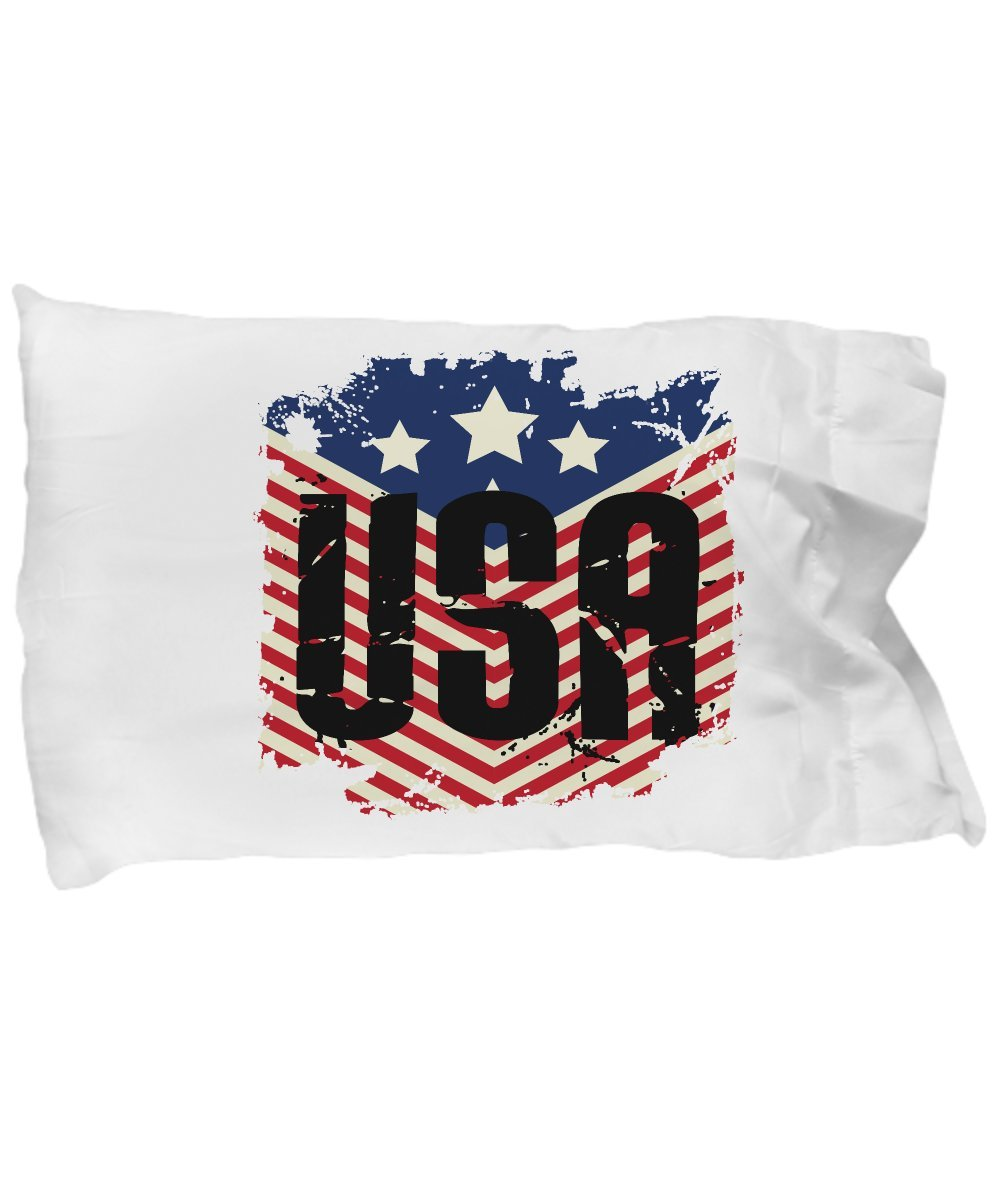 Funny Novelty Gift For 4th of July USA American Flag Best Fourth of July, Independence, Day, America, USA, US Pillow Case