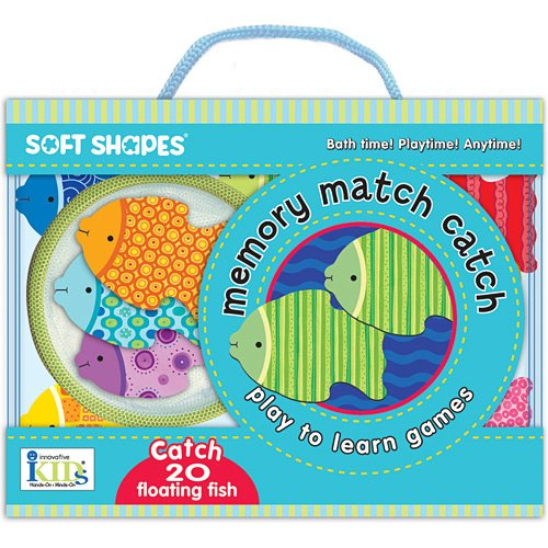 Soft Shapes Play to Learn Bath Time Games - Memory Match Catch: (Catch 20 Floating Fish) (Soft Shapes: Play and Learn Games)