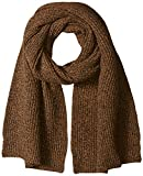 Lacoste Women's Rib Knit Scarf, Dark Renaissance Brown Mouline, One Size