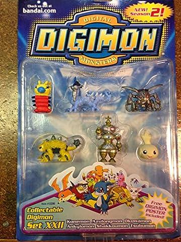Digimon Set XXII 22 Mini Figurine Season 2 (Digimon Miniatures)
