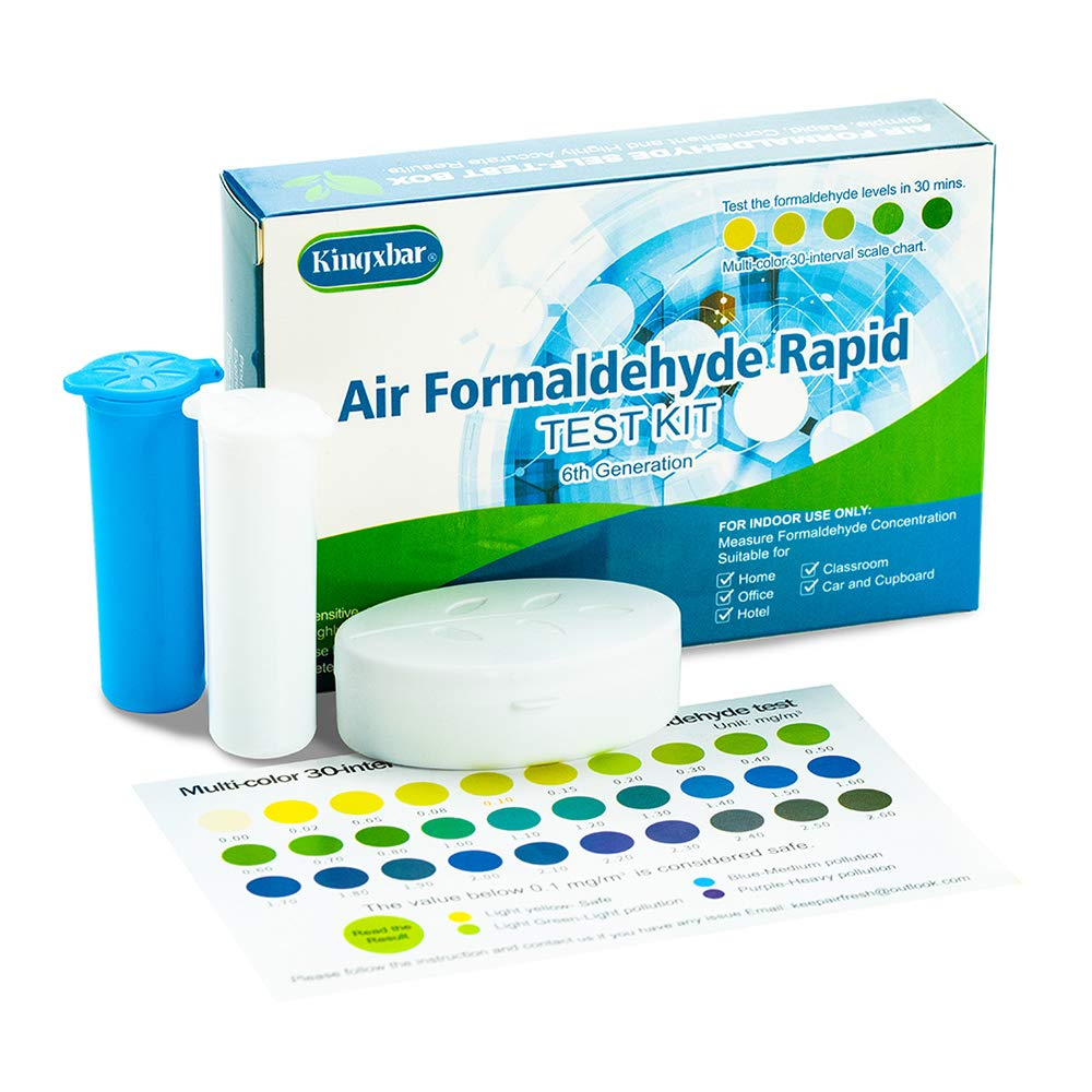6th Generation Air Formaldehyde Rapid DIY Test Kit,Air Quality Condition Testing Tool for Home Bedroom Indoor