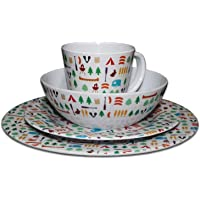 3f80000c9f9 OLPRO Outdoor Leisure Products Berrow Hill 16 Piece Melamine Dinner Camping  Picnicware Set