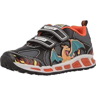 Geox J Shuttle Boy Sneakers Ragazzo NeroArancio Sneakers Basse